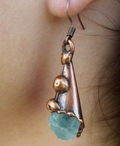 Copper Earrings by Nilson