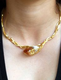 Gold Plated Necklace by Nilson